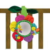 Flower Soft Mirror Crib Toy