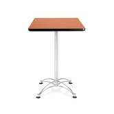 "Cafe 41.5"" x 24"" Square Table with Chrome Base"