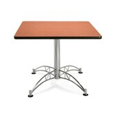 "Multi-use 29.5"" x 36"" Square Table with Chrome Plated Base"