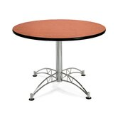 "Multi-use 29.5"" x 42"" Round Table with Chrome Plated Base"