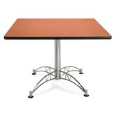 "Multi-use 29.5"" x 42"" Square Table with Chrome Plated Base"