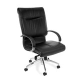 Sharp Executive Series Leather Office Chair with Arms