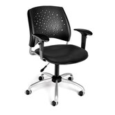 Stars and Moon Low-Back Confrence Chair with Arms
