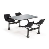 "24""x48""  Group/Cluster Table and Chairs with Stainless Steel Top"