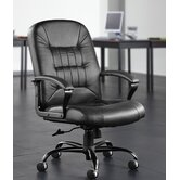 Leather Back Big and Tall Office Chair with Arms