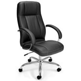 High-Back Leatherette Executive Conference Chair with Arms