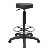 Height Adjustable Stool with Nylon Base