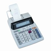 EL1801V Desktop Calculator, 12-Digit Fluorescent, Two-Color Printing