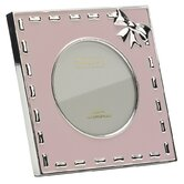 Baby Enamel Photo Frame Pink Ribbon Frame