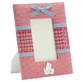 Baby Enamel Photo Frame Pink Fabric Frame