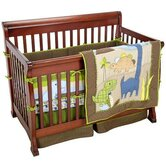 Jill McDonald 4 Pieces Adorable Dino Crib Bedding Set