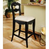 Hills Of Provence 24&quot;  Black Counter Stool