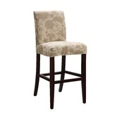 Classic Seating Woven Gold with Taupe Floral Pattern Slipcover For Counter/Bar Stool