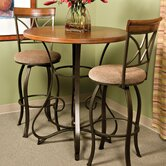 Cafe Hamilton Pub Table in Matte Pewter and Bronze