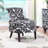 Floral Print Diana Chenille Slipper Chair
