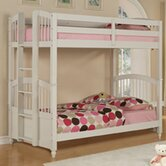 May Twin over Twin/Full Bunk Bed with Built-In Ladder