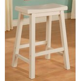 "Color Story 24"" Pure White Counter Stool"