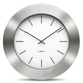 Bold Wall Clock with White Index Dial in Steel