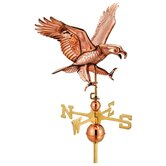 Full Size Weathervane Attack Eagle in Polished