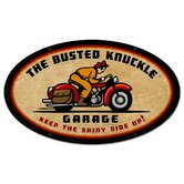 Busted Knuckle Garage Oval Motorcycle Sign