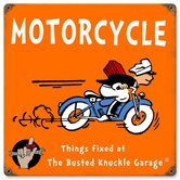 Busted Knuckle Garage Kid's Motorcycle Sign