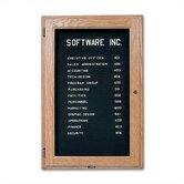 Wall-Mounted Enclosed Directory Boards - Oak