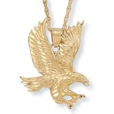 Gold Plated Men's Eagle Pendant