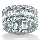 Platinum/Silver Cubic Zirconia Eternity Ring