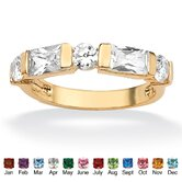 Gold Plated Channel-Set Birthstone Ring