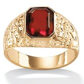 Men's Simulated Ruby Ring