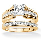 Princess-Cut Wedding Ring Set