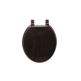 Marbleized Molded Wood Toilet Seat in Deep Wood
