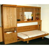 Contemporary Horizontal Twin Murphy Bed