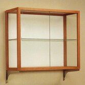 Heirloom 894 Series Wall Mounted Display Case (Oak Finish) with Mounting Kit