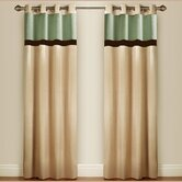 Pin Tuck Lined Curtains with Eyelet Heading
