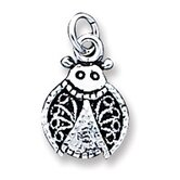 Sterling Silver Ladybug Filigree Charm