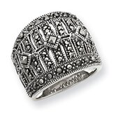 Sterling Silver Marcasite Masonic Ring