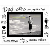 Moments Bevelled Glass Dad Photo Frame