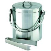 Stainless Steel Cocktail Ice Bucket with Tongs