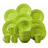 16 Piece Everyday Dining Set in Green