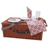4 Person Wicker Hamper in Sorrento Red
