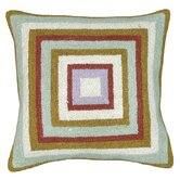 Squares 100% Wool Hook Pillow