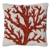 Coral 100% Wool Hook Pillow