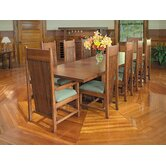 "Frank Llloyd Wright Dana-Thomas 84 - 124"" W x 48"" D Grand Extension 11 Piece Dining Set"