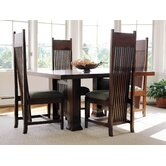 "Frank Llloyd Wright Dana-Thomas 60 - 84"" W x 48"" D Extension 5 Piece Dining Set"