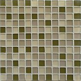 "Crystal-C 1"" x 1"" Glass Mosaic in Forest Mix Frosted"