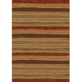 Galleria Beige Red Stripe Rug