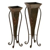 Tall Square Floor Planters (Set of 2)