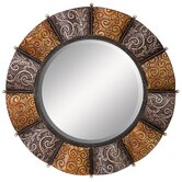 "33"" Round Metal Wall Mirror"