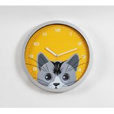 Cat Eye Pendulum Wall Clock in Silver Resin